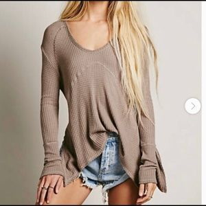 FREE PEOPLE   sunset park oversized thermal small